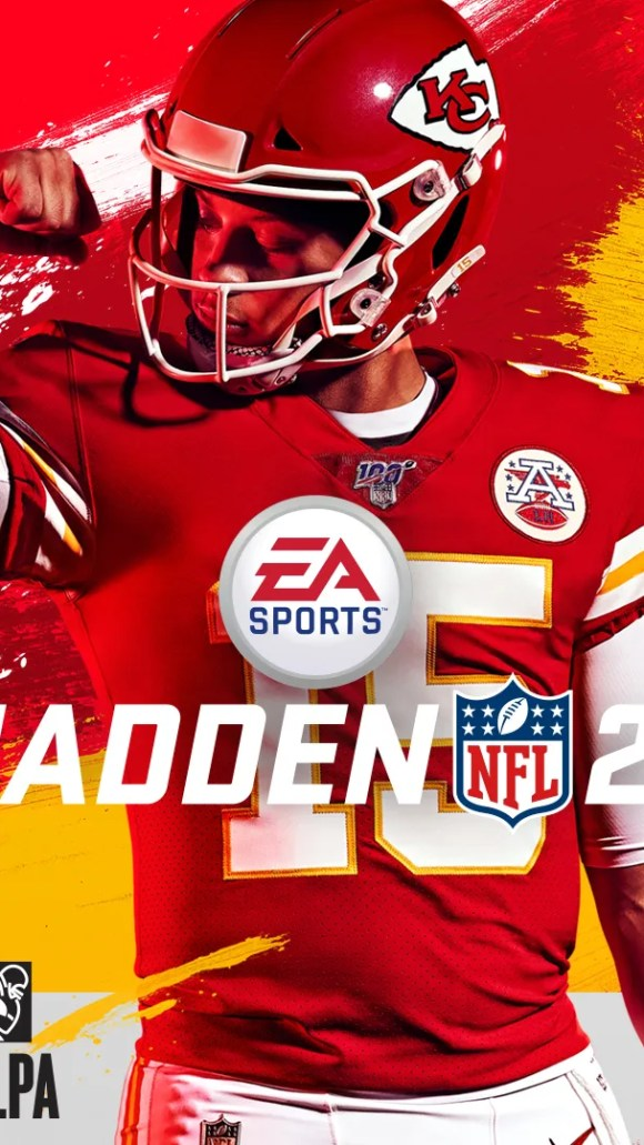 KC Chiefs quarterback Patrick Mahomes is the cover athlete for the 'Madden NFL 20' video game.
