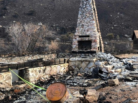 The fireplace and the entire chimney of Warner Whipple Lodge were located in Lamoille Canyon after wildlife last year.