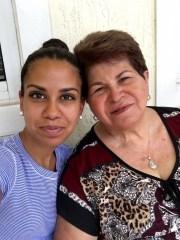 Liz Rebecca Alarcon, left, and her grandmother, Dora Lopez, in Miami, Florida, in October, 2016.