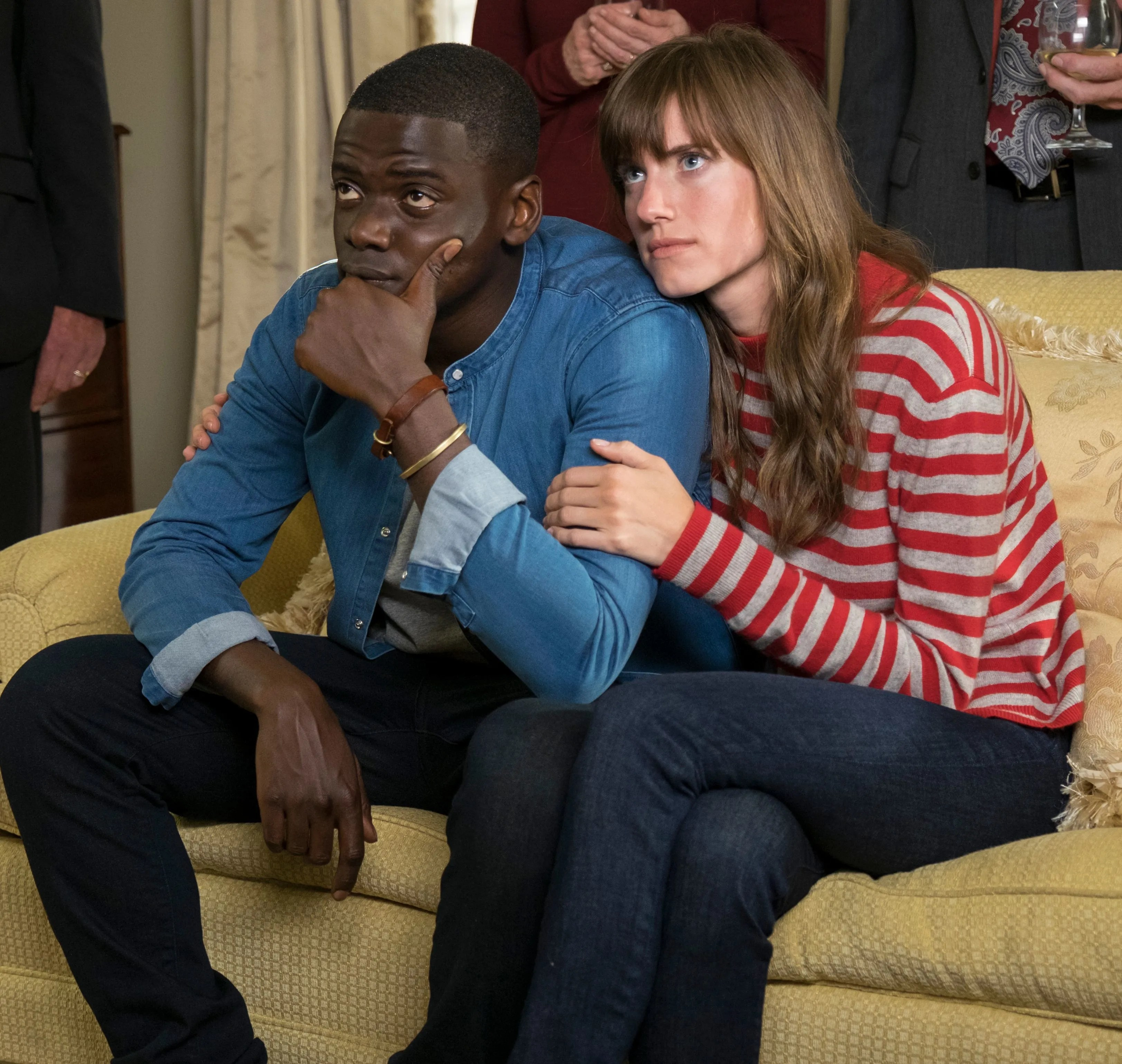 """Chris (Daniel Kaluuya) gets more than he bargained for when he meets the family of his girlfriend (Allison Williams) in the racist horror film """"Get out."""""""