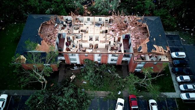 Tornado Hits Near Dayton Ohio