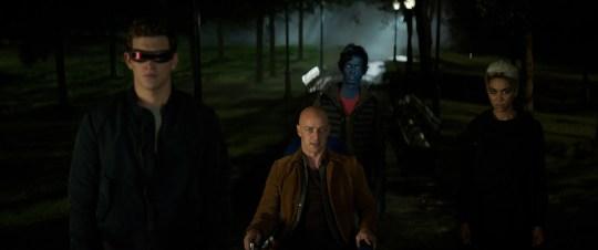 "X-Men Cyclops (Tye Sheridan, from left), Charles Xavier (James McAvoy), Nightcrawler (Kodi Smit-McPhee) and Storm (Alexandra Shipp) try to help a teammate in ""Dark Phoenix."""
