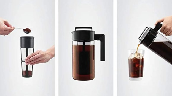 Get your caffeine fix with the Takeya cold brew maker.