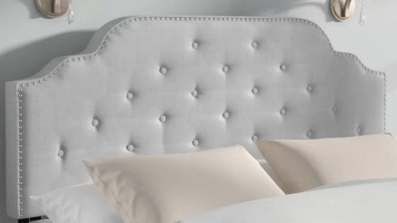A simple (and inexpensive) way to dress up your bed.
