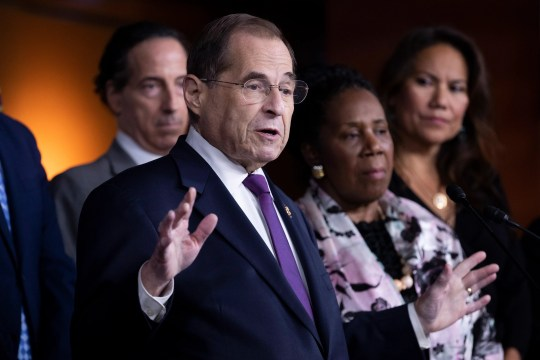 Chairman of the House Judiciary Committee Jerry Nadler, D-N.Y., holds a news conference with fellow members of the House Judiciary Committee on Friday, July 26.