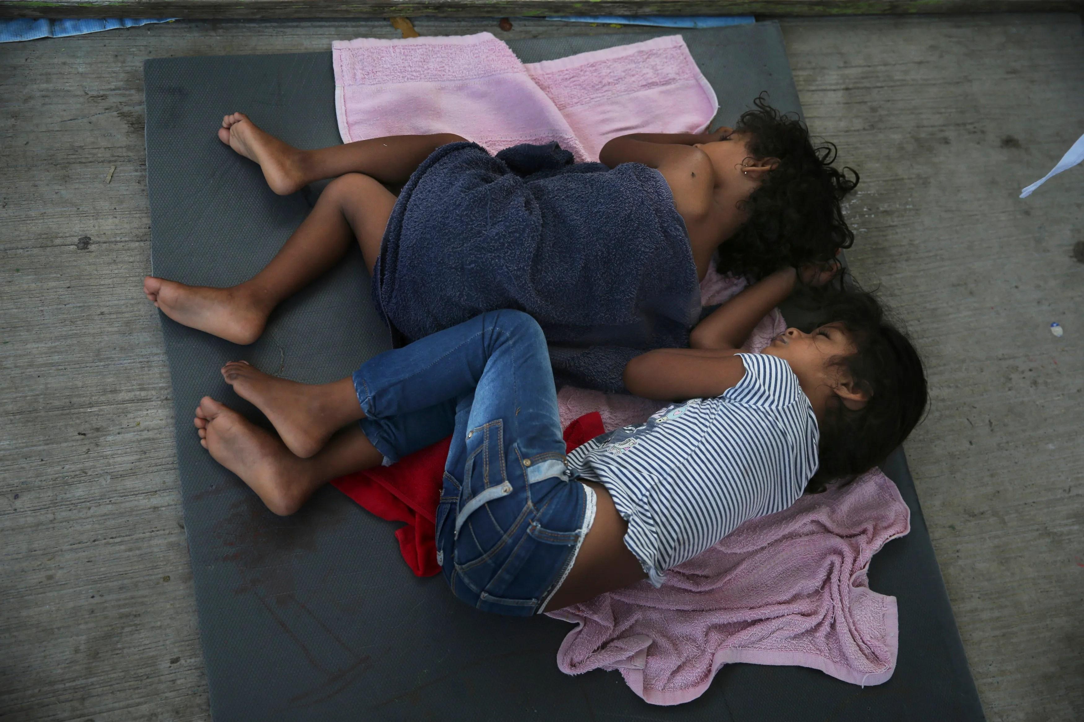 Two migrant children in Nuevo Laredo, Mexico.