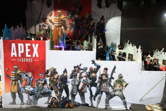 A general view of the stage used for competition during the EXP Invitational-Apex Legends at X Games 2019 Minneapolis at U.S. Bank Stadium.