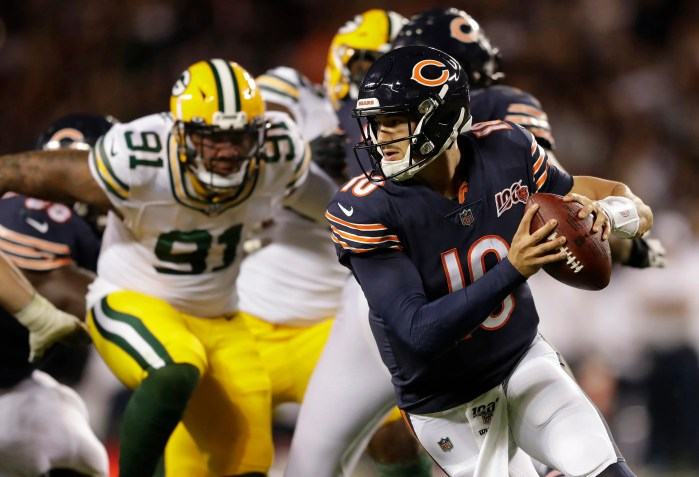 Mitchell Trubisky didn't make the plays to put his team in position to beat the Packers.