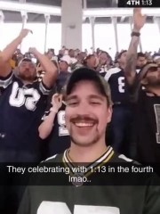 Kevin Speigl's image succeeded from Packers-Cowboys game, October 8, 2017 onwards.