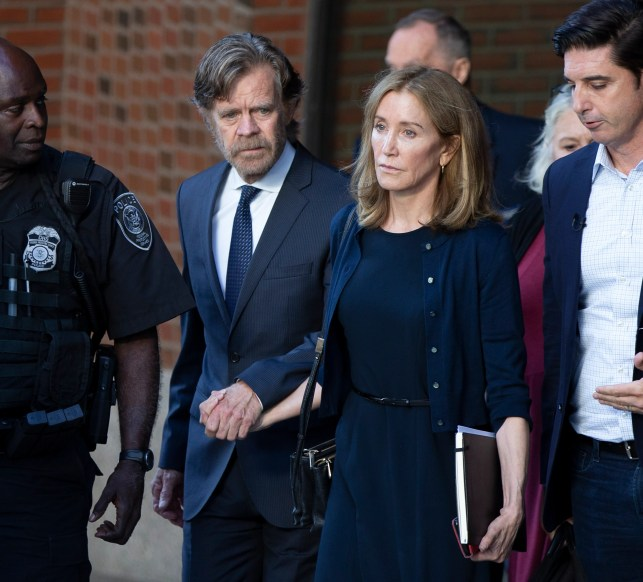 Felicity Huffman sentenced to two weeks in prison, $30,000 fine for college admissions scandal