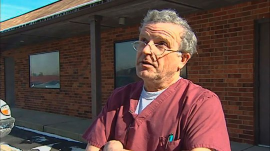 The abortion doctor Ulrich Klopfer in 2015 in South Bend, Indiana. He died on 3 September 2019.