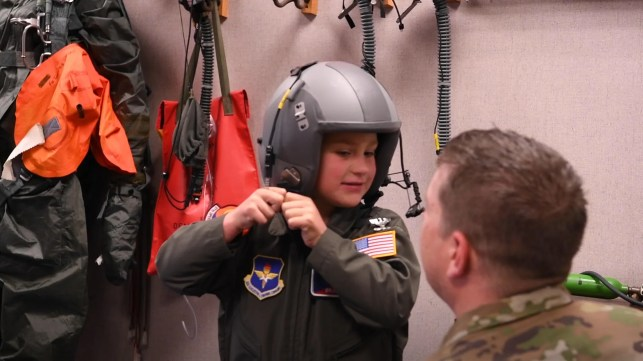 7-year-old cancer patient joins Air Force for a day