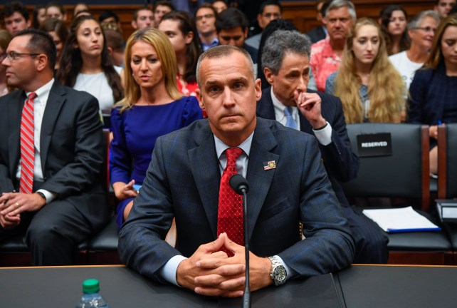Former Trump campaign manager Corey Lewandowski testifies before the House Judiciary Committee