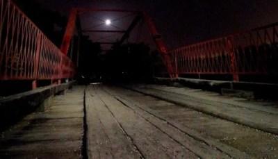 Old Alton Bridge, also known as Goatman's Bridge, in Denton