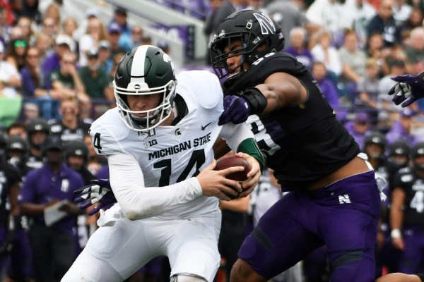 Live updates: Michigan State leads Northwestern 14-3 at halftime
