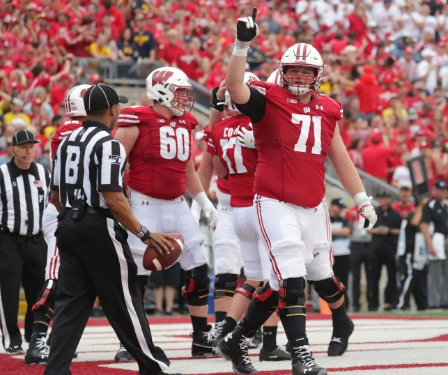 The Wisconsin Badgers' 2,500-pound 'Hippo' package was a big success against Michigan
