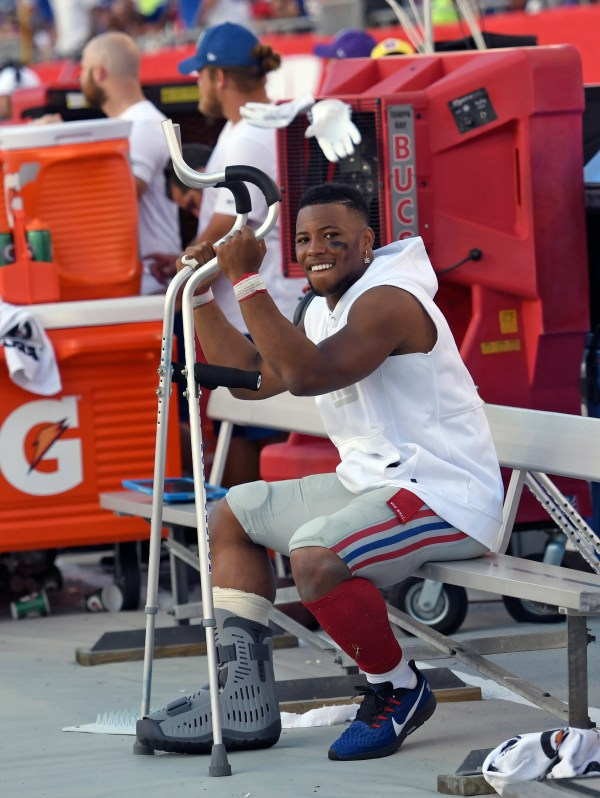Saquon Barkley: NY Giants star running back to miss several weeks with high ankle sprain