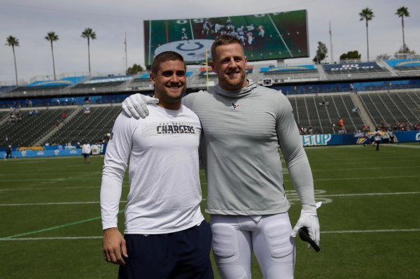J.J. Watt plays peek-a-boo with his nephew and then delivers a vintage performance against his brother