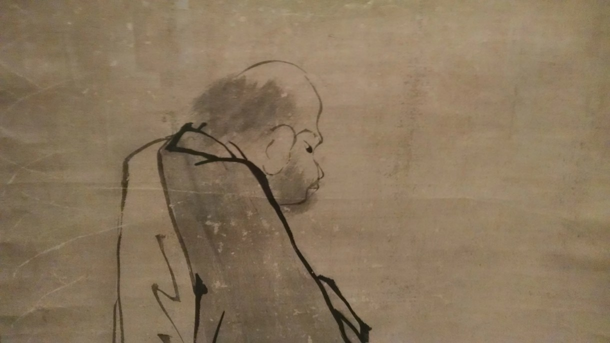 Unkoku Tōeki (1591–1644) Monk Tokuzan with a Staff Edo Period (1615–1868)  Hanging scroll; ink on paper