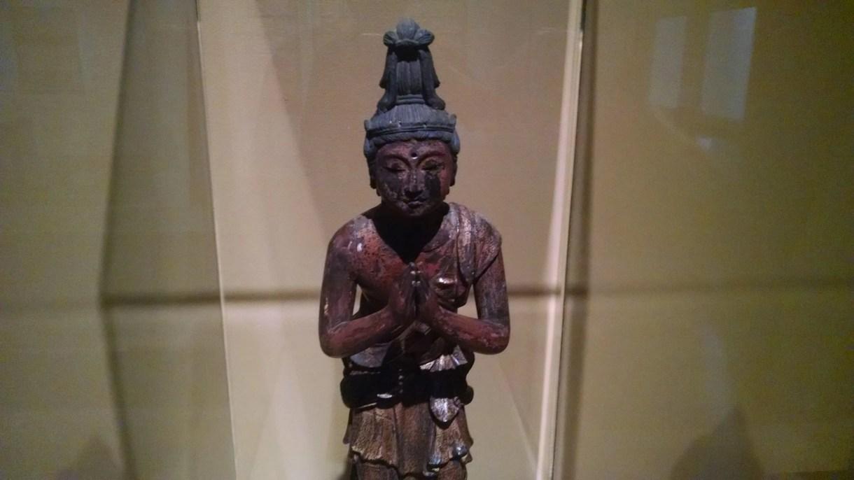 The Bodhisattva Seishi (Sanskrit: Mahasthamaprapta) Kamakura Period (1185–1392) Polychrome wood