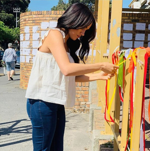 Royal tour Day 6: Meghan visits memorial to murdered woman, Prince Harry meets with Angola