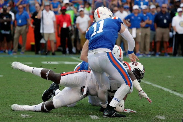 Marlon Davidson, Gus Malzahn respond to Dan Mullen calling hit on Kyle Trask 'dirty'