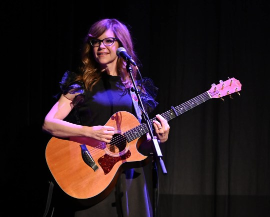 "Lisa Loeb performs at the  ""Reality Bites"" 25th Anniversary at the 2019 Tribeca Film Festival in New York City."