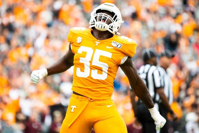 Tennessee Vols linebacker Daniel Bituli ejected for targeting vs. Alabama football
