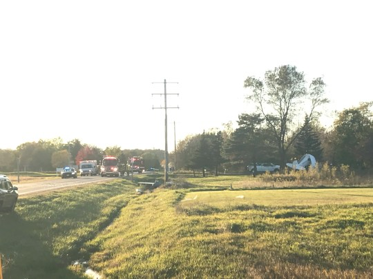 A small airplane crashed into a yard Thursday at Dutchman Road and Hidden Valley Lane in the town of Ledgeview