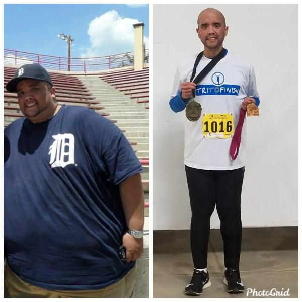 He dropped an amazing 475 pounds, then ran Detroit