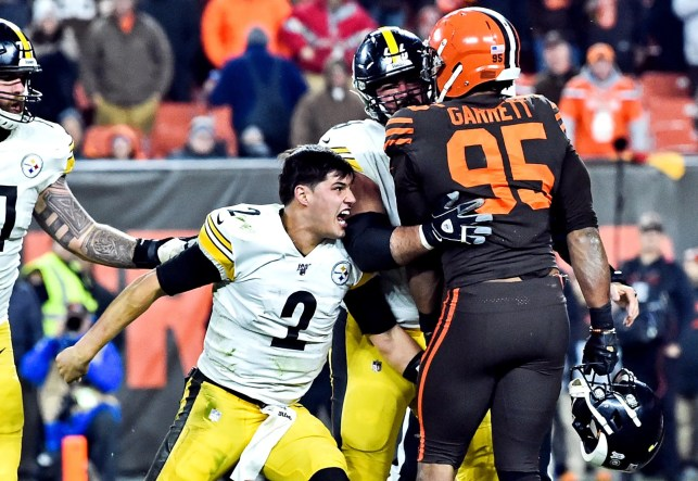 Steelers QB Mason Rudolph apologizes for role in brawl, says he holds 'no ill will toward Myles Garrett'