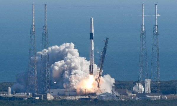 SpaceX launches a Dragon spacecraft to International Space Station; sticks the landing