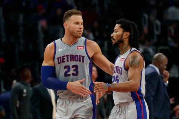 Derrick Rose buries winning bucket, Pistons sink Pelicans