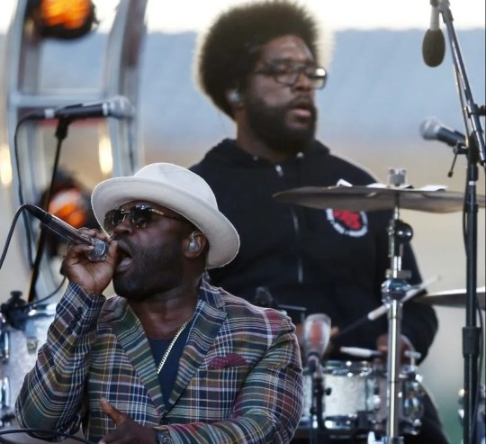 Tariq Trotter (Black Thought) and Ahmir Thompson (Questlove) of the Roots.