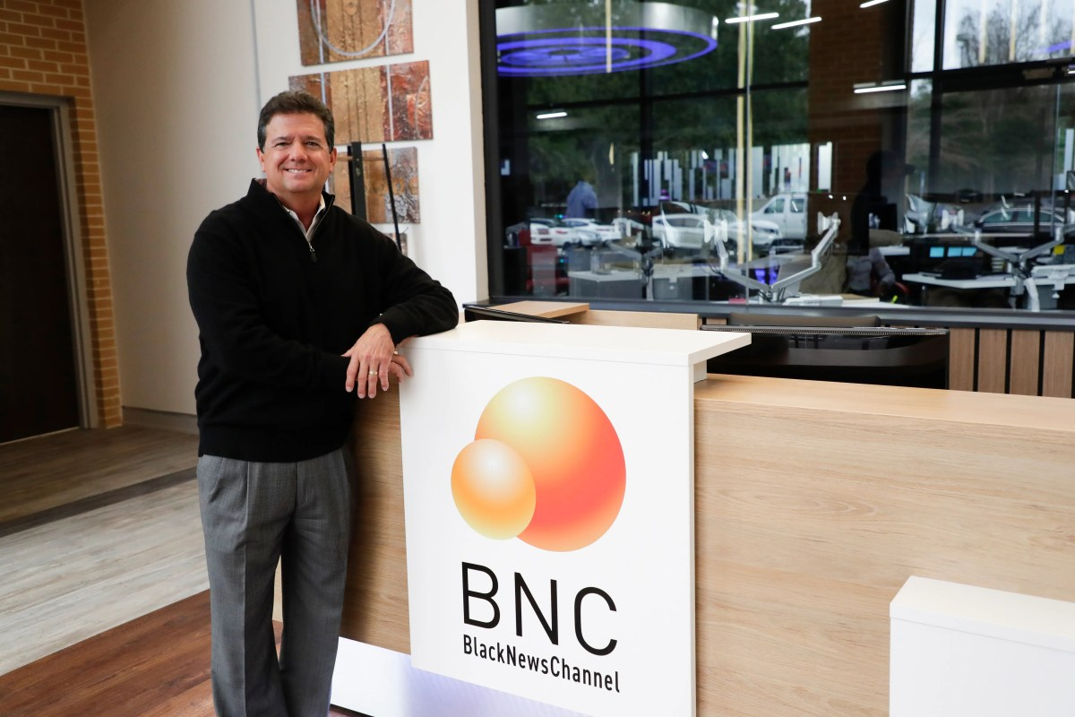 Black News Channel CEO Bob Brillante is in the news network lobby on Tuesday, January 7, 2020.