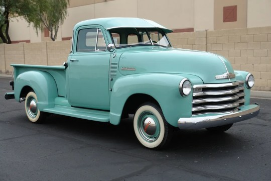 This 1953 Chevrolet truck was completely restored, with a new interior, window, tires, glass, chrome, brakes and suspension.