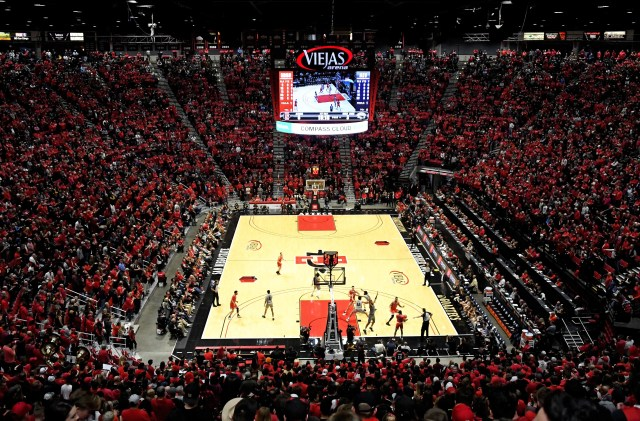 Jan 18, 2020; San Diego, California, USA; A general of the Viejas Arena during a game between the Nevada Wolf Pack and San Diego State Aztecs. Mandatory Credit: Kirby Lee-USA TODAY Sports