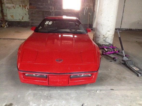 "This 1987 Corvette will be given away as one of the ""Lost Corvettes"" in a promotion by the Corvette Heroes to benefit the National Guard Educational Foundation."