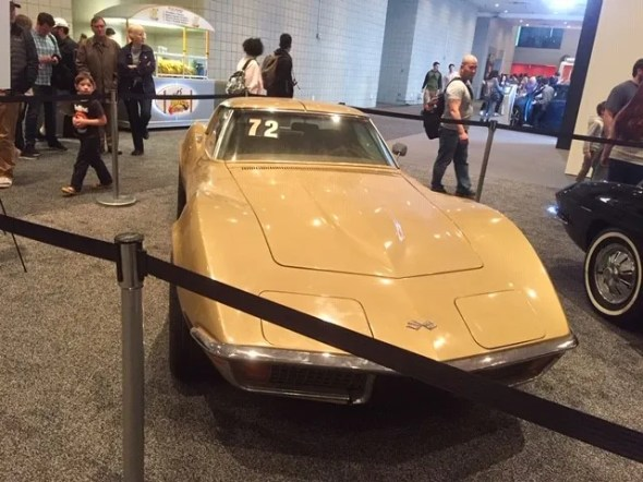 "This 1972 Corvette will be given away as one of the ""Lost Corvettes"" in a promotion by the Corvette Heroes to benefit the National Guard Educational Foundation."