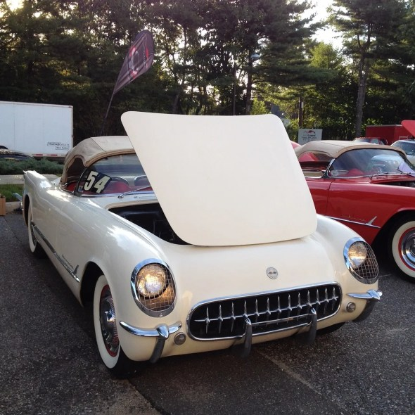 "This 1954 Corvette will be given away as one of the ""Lost Corvettes"" in a promotion by the Corvette Heroes to benefit the National Guard Educational Foundation."