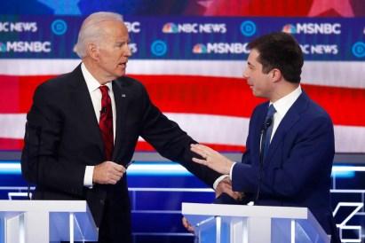Risultato immagini per democratic election debate biden