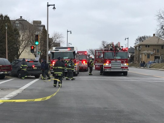 Emergency vehicles are at North 35th and West State streets. Molson Coors said Wednesday there was an active shooter on its Milwaukee campus.