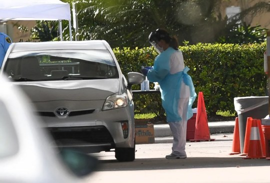 The Cleveland Clinic Tradition Hospital begins driving tests in the parking lot outside the hospital on Friday, March 20, 2020, west of Port St. Lucie. The service is by appointment only, but anyone interested must call 772-419-3360 to be filtered by phone and possibly scheduled.