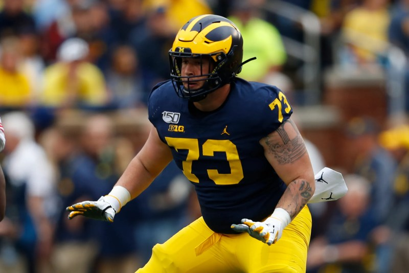 Amid uncertainty, Michigan right tackle Jalen Mayfield declares for NFL Draft