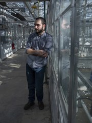 George Stack, a first-year doctoral student in Plant Breeding and Genetics at Cornell.