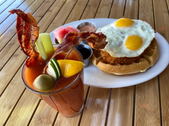 Father's Day brunch items at Daily Dose.