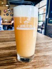 A pint of beer at Growler USA.
