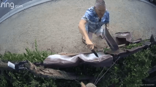 Three men were cited for misdemeanor vandalism after destroying Black Lives Matter signs in Westlake Village. The man in the video was identified as Darrin Stone, 60, of Thousand Oaks, the Ventura County Sheriff's Office said.