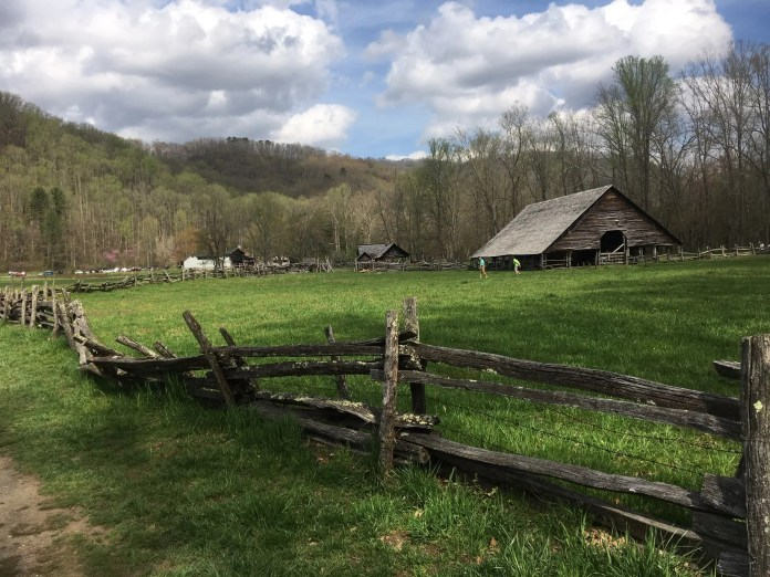 Enslaved African Americans are known to be buried in the Enloe Cemetery in the Great Smoky Mountains National Park, near the Oconaluftee Farm Museum in Cherokee, pictured here, and Mingus Mill.