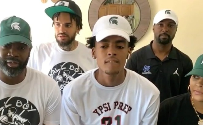 Ypsilanti Lincoln 2022 five-star small forward Emoni Bates committed to Michigan State on ESPN's SportsCenter show Monday, June 29, 2020.